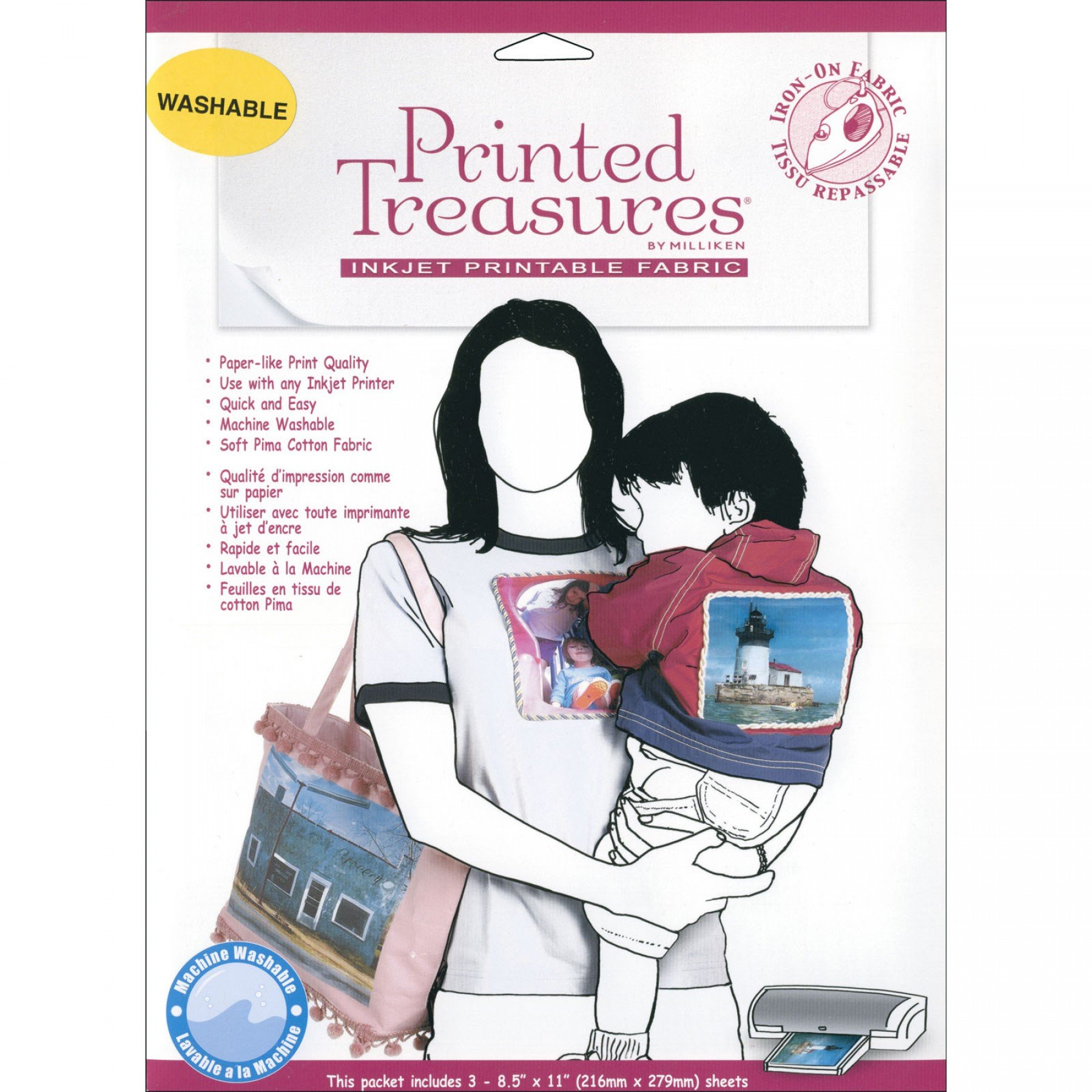 image relating to Ink Jet Printable Fabric known as Published Treasures - Inkjet Printable Material EE Schenck Co.
