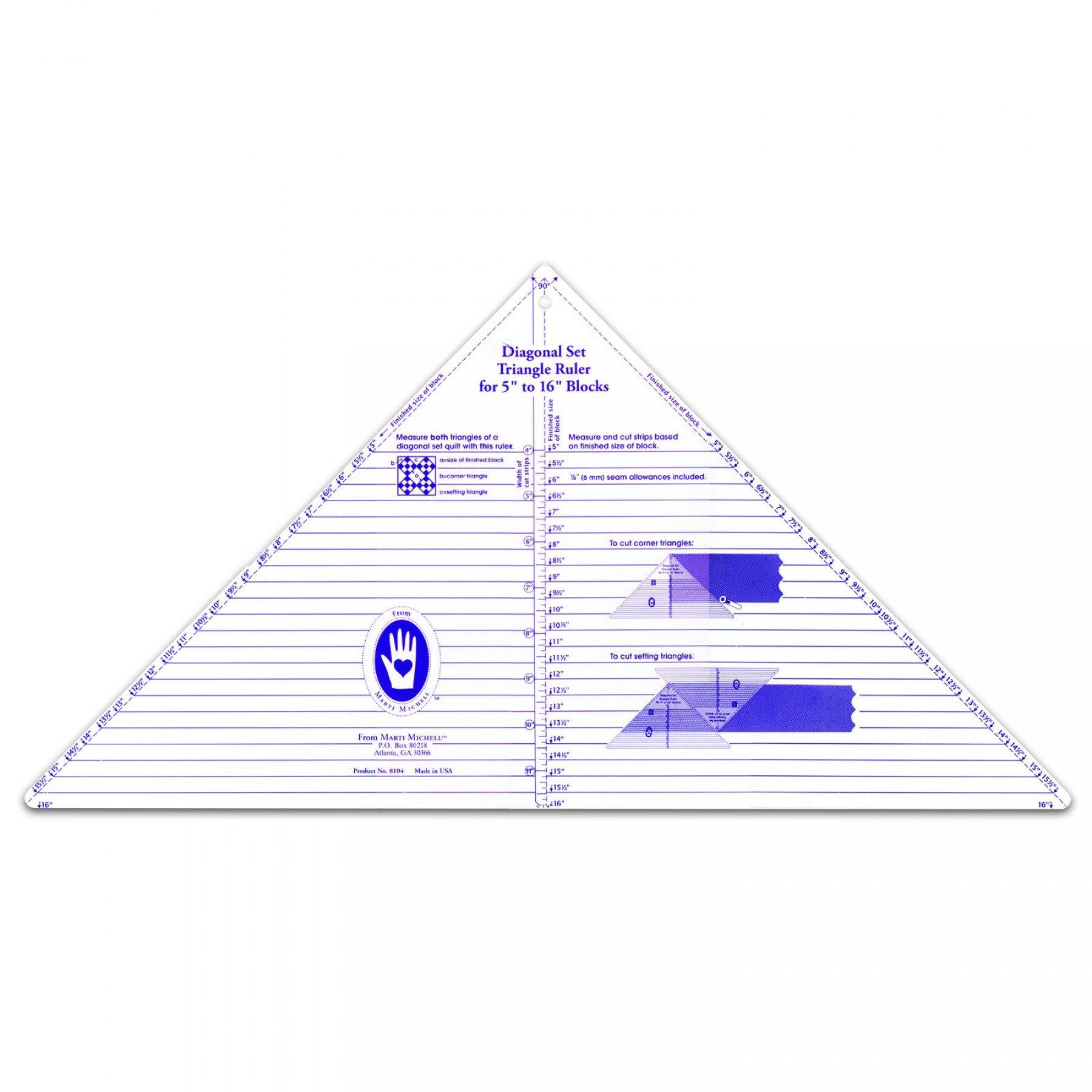 Diagonal Set Triangle Ruler | EE Schenck Co