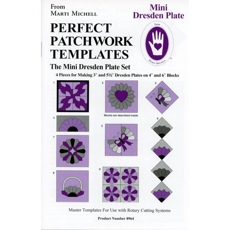 Mini Dresden Plate Template Set   EE Schenck Co