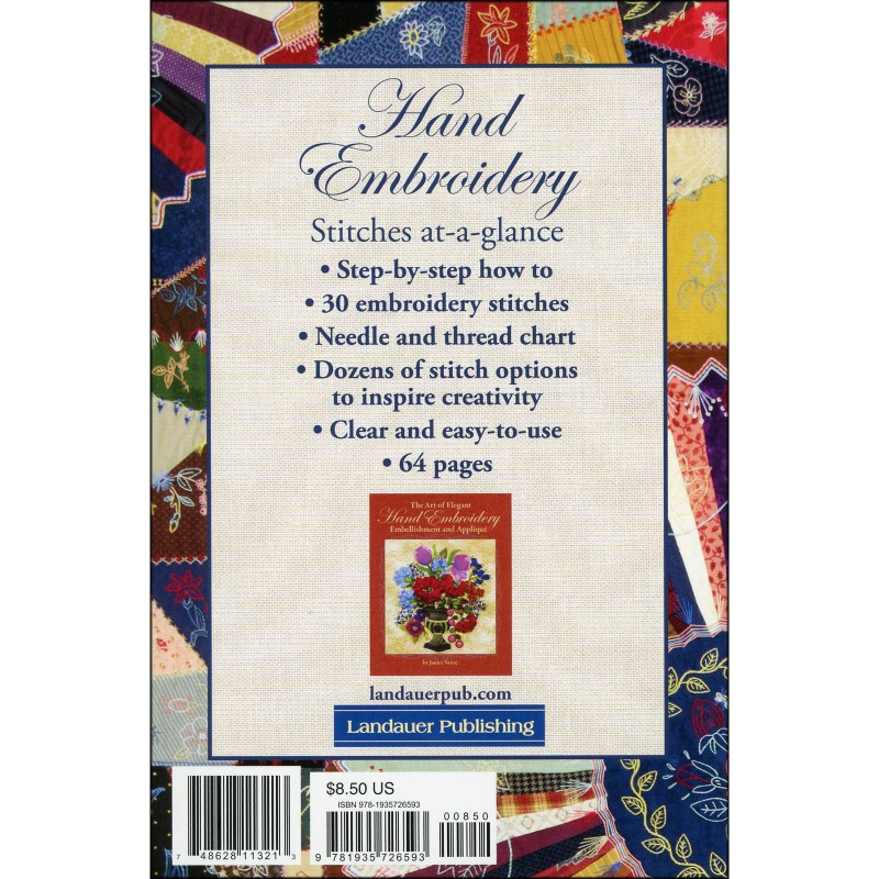 Hand Embroidery Stitches At-A-Glance | EE Schenck Co