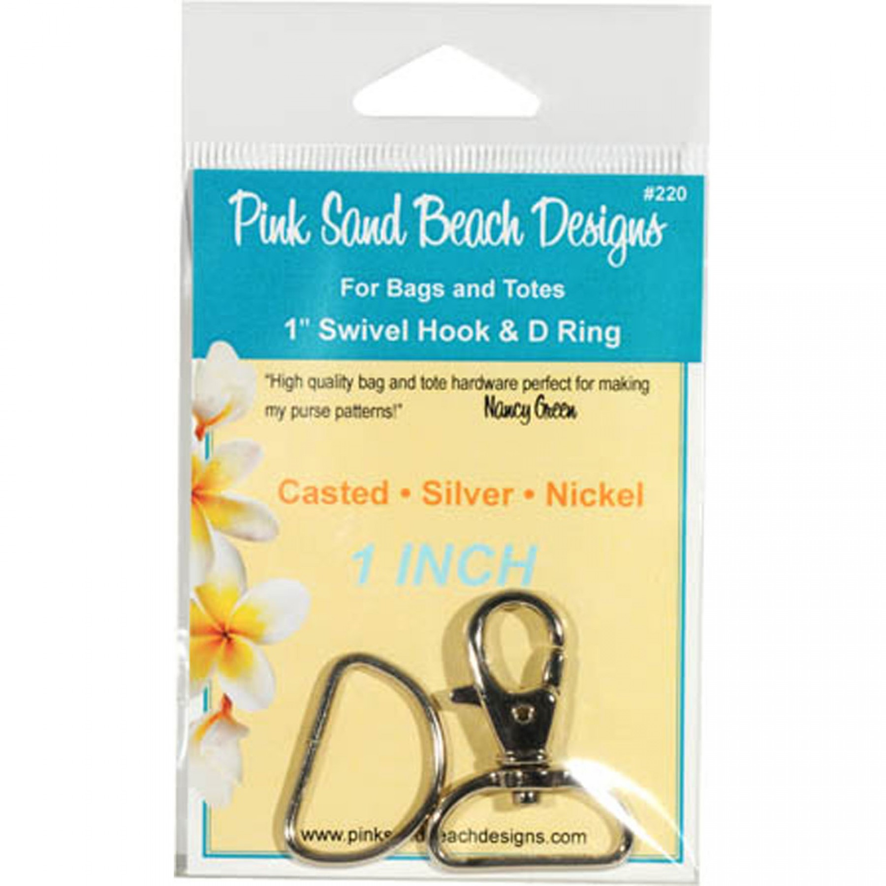 PINK SAND BEACH DESIGN PSB220  S SWIVEL HOOK AND D RING 1