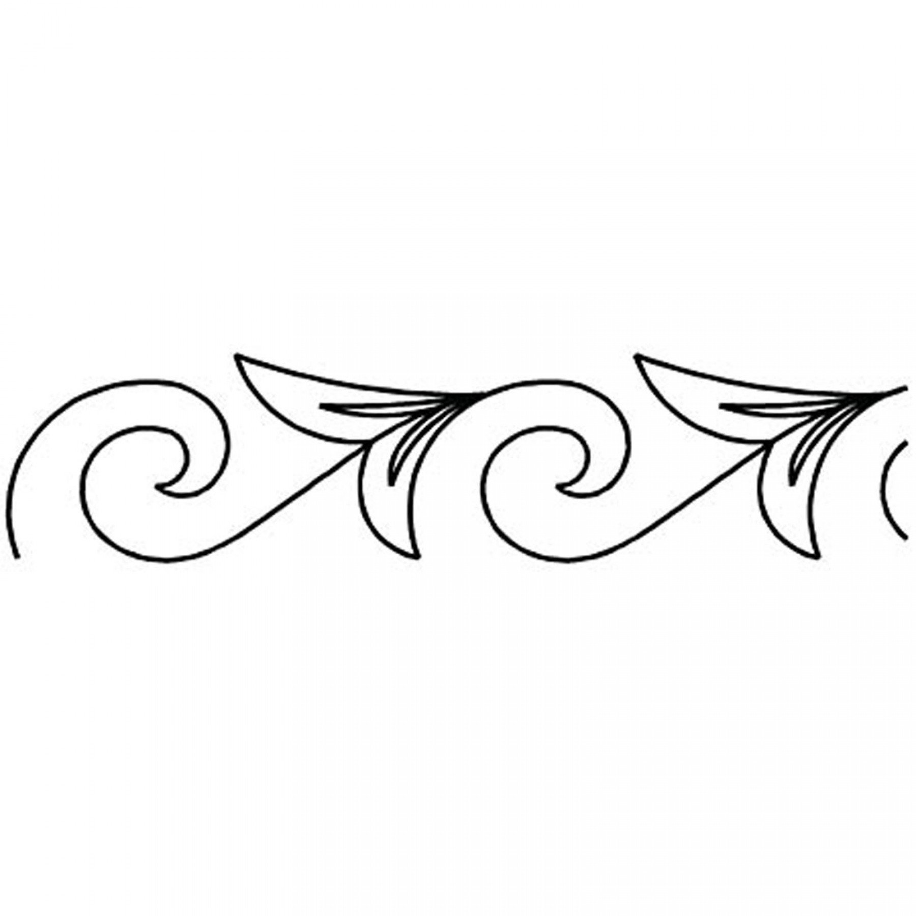 nordic scroll border stencil