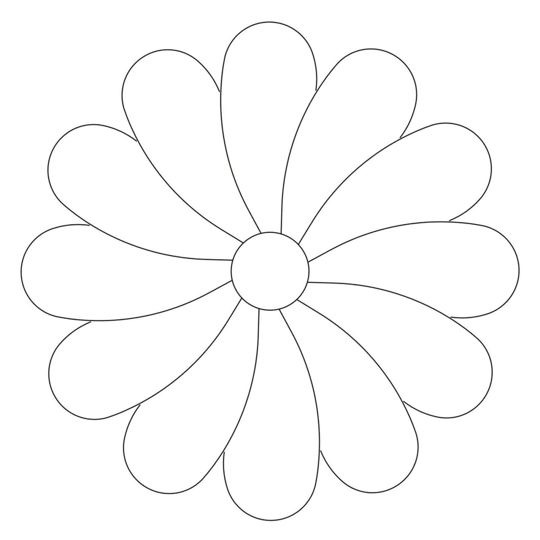 small flower stencil