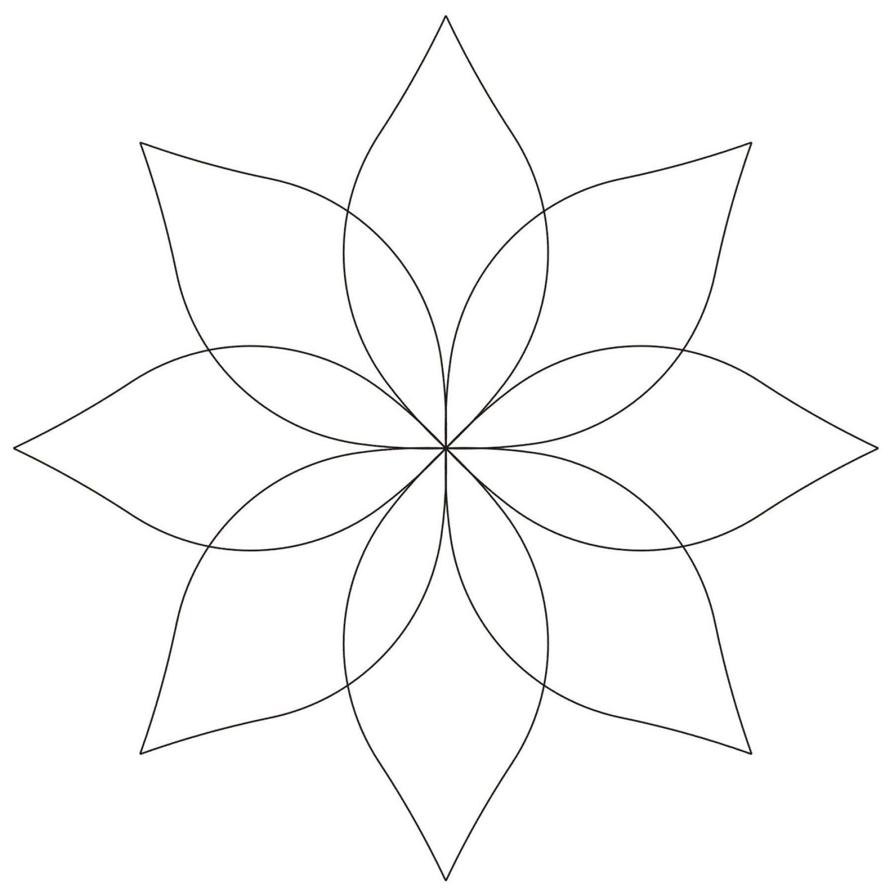 Continuous Flower Stencil Ee Schenck Co
