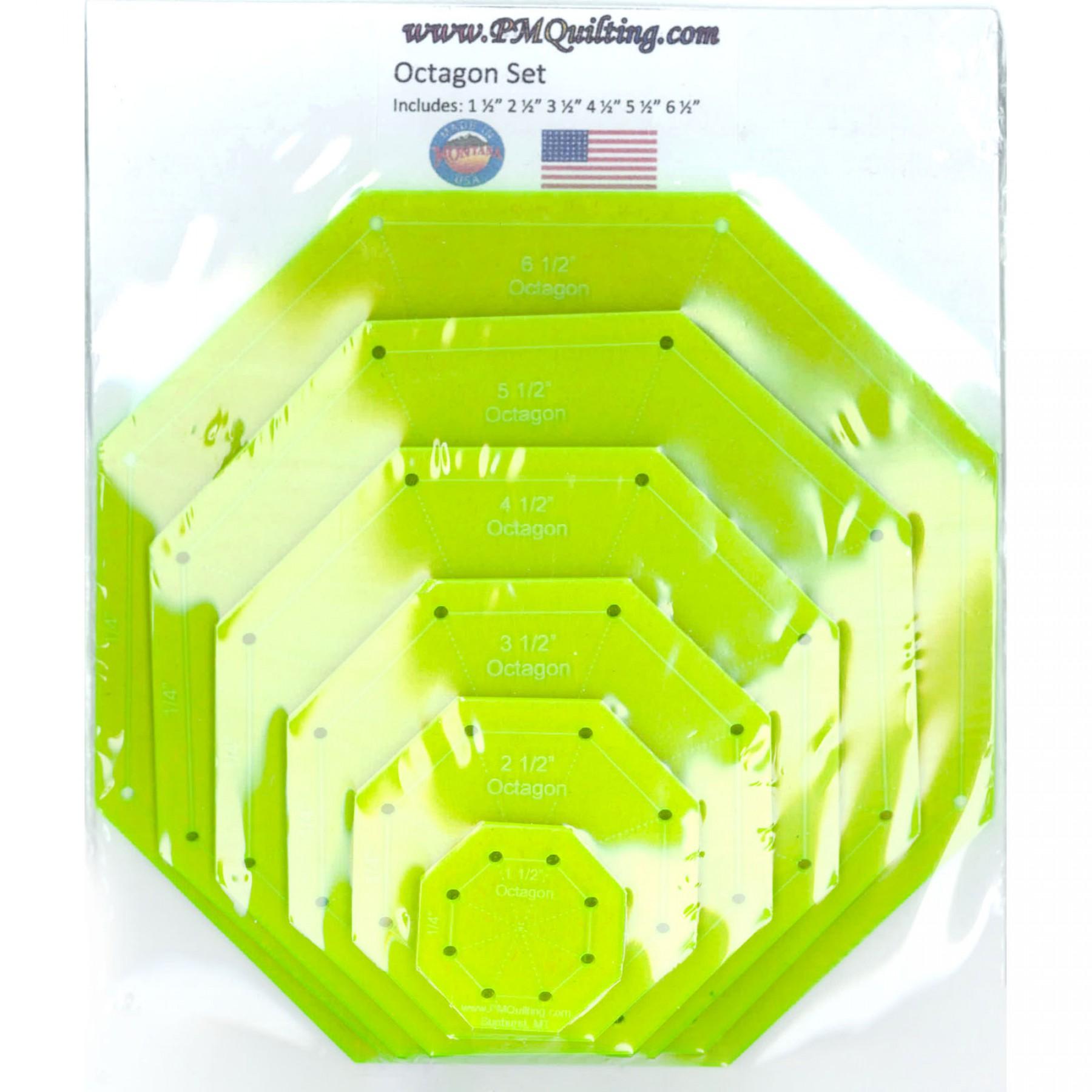 octagon template set glow edge ee schenck co