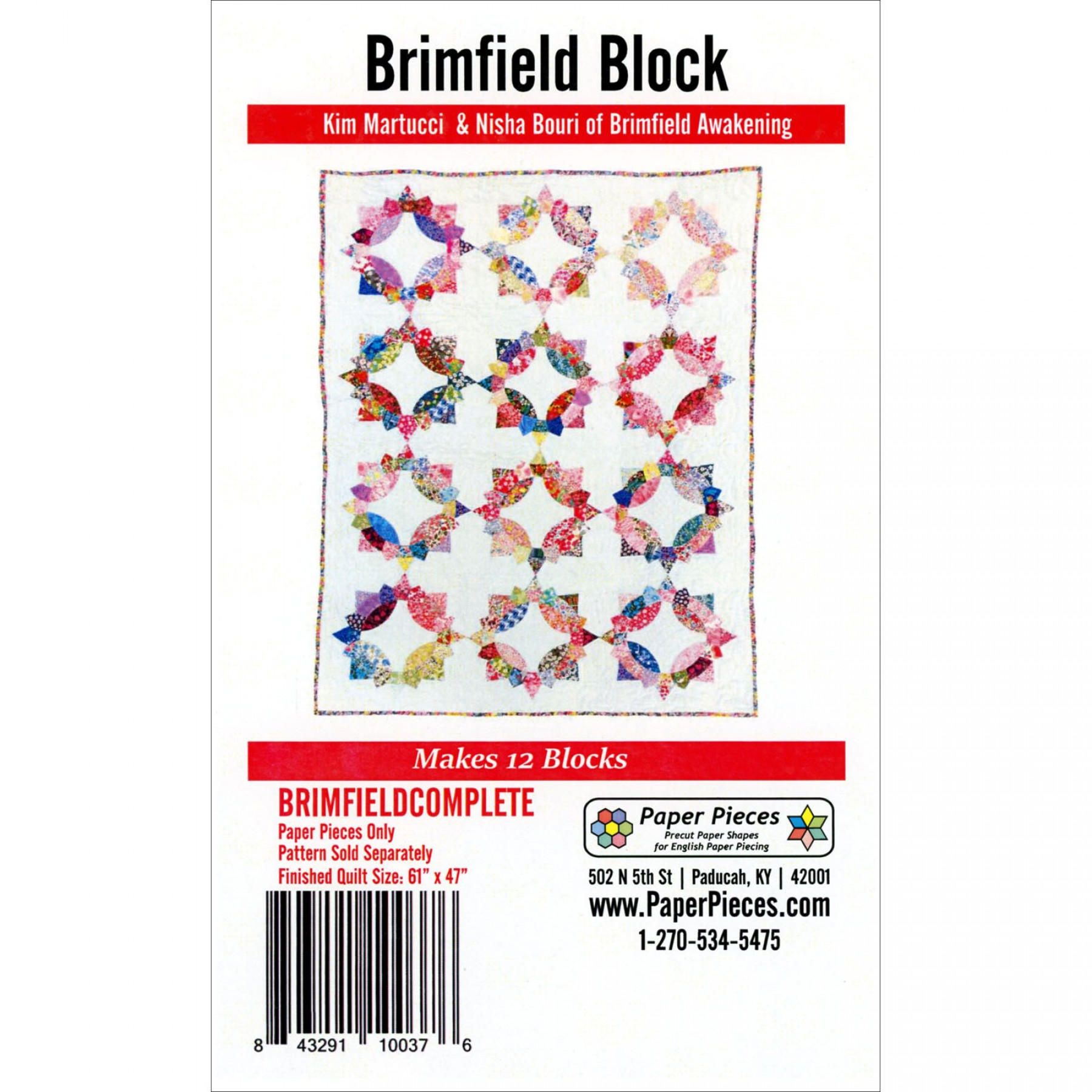 English Paper Piecing Templates For Brimfield Block Pattern Ee