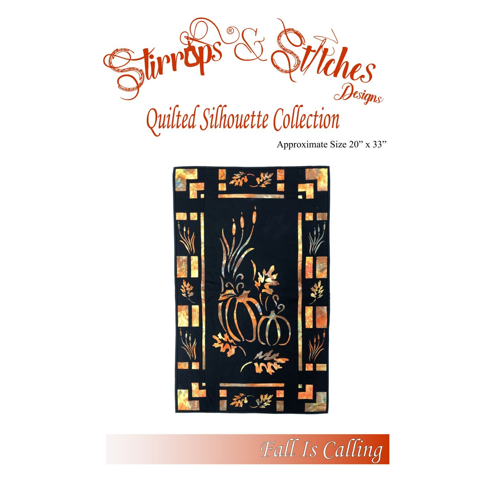 From Stirrups /& Stitches FALL IS CALLING SILHOUETTE COLLECTION APPLIQUE PATTERN