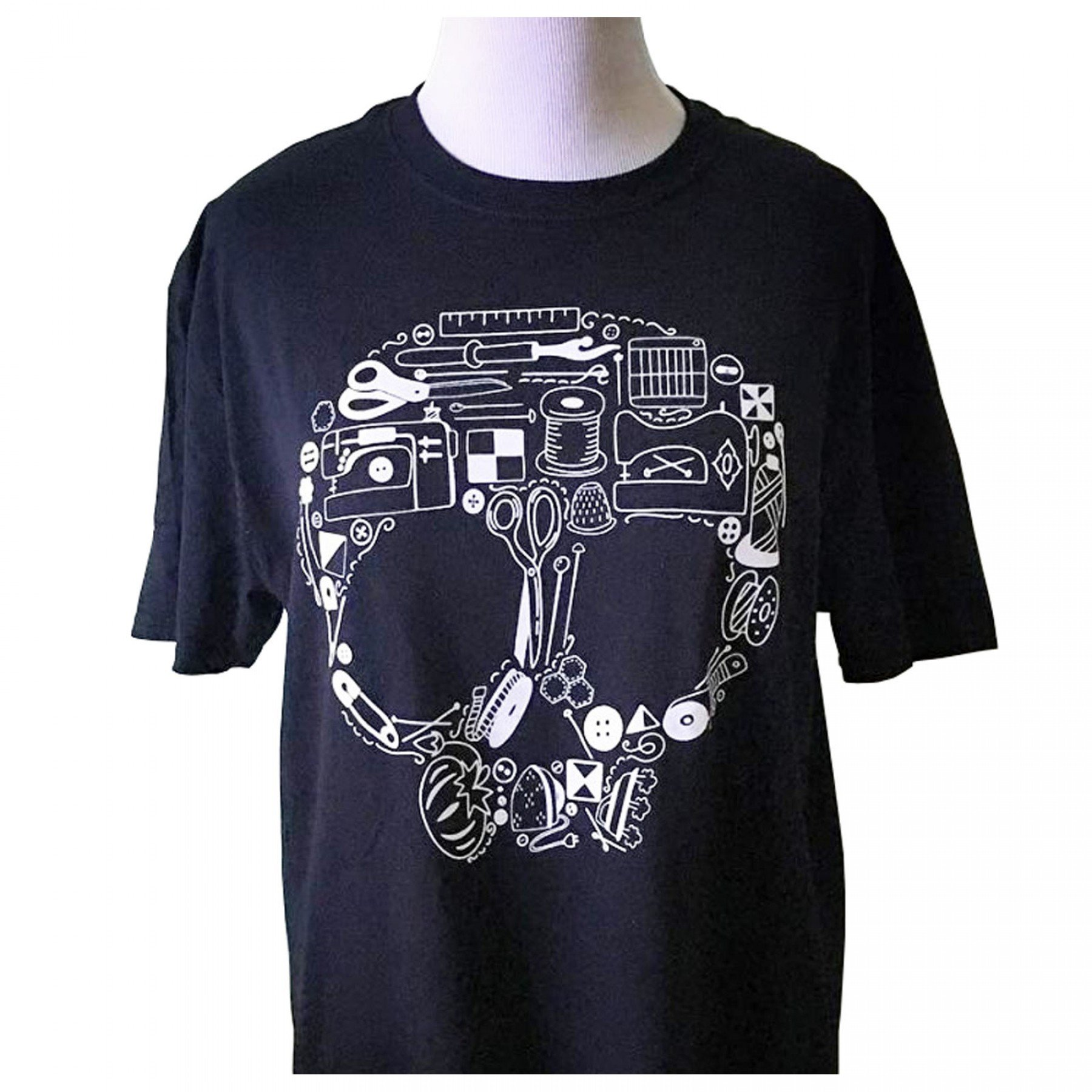 Sewing Skull (Made of Tools) T-Shirt | EE Schenck Co.