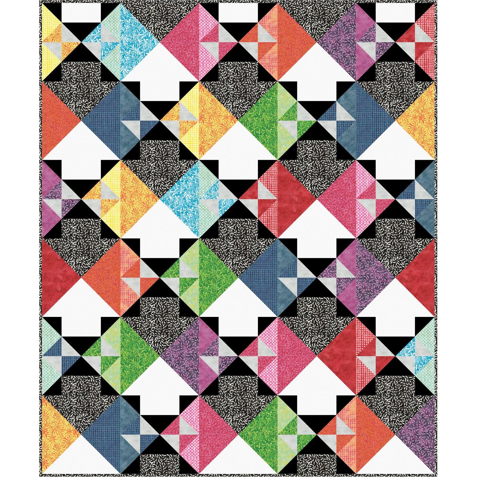 Kit~watercolor Hydrangeas Quilt Kit~41/'/' x 52/'/'pattern /& Fabric~topbinding by Maywood Studio