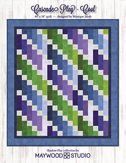 """Cascade Play - Cool"" Free Easy to Sew Quilt Pattern designed by Monique Jacob from Maywood Studios"