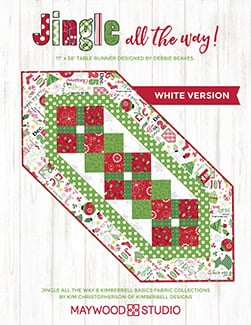 """Jingle all the Way Table Runner"" Free Pattern designed by Debbie Beaves from Maywood Studio"