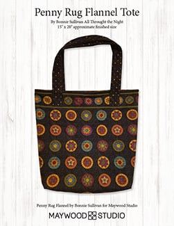 """Tuscany"" Free Tote Bag Pattern designed by Bonnie Sullivan of All Throught the Night from Maywood Studio"